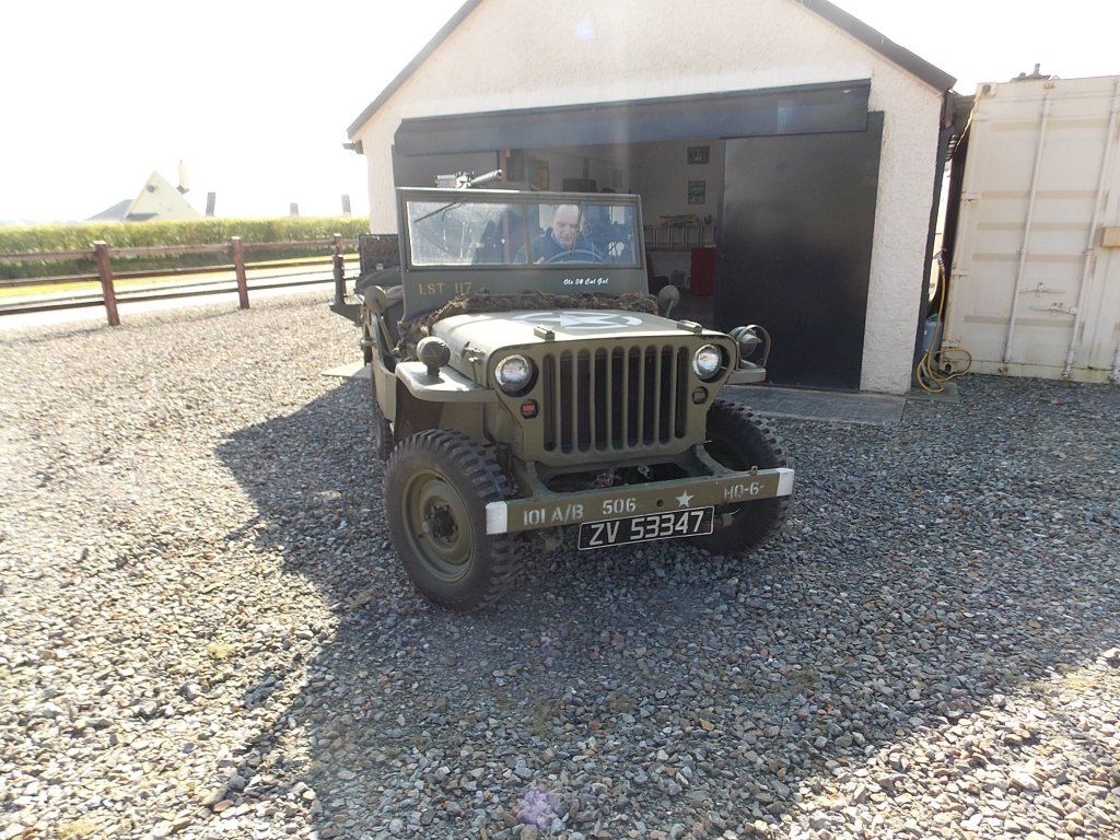 1945 Ford GPW Jeep front view, The Abingdon Collection 2017