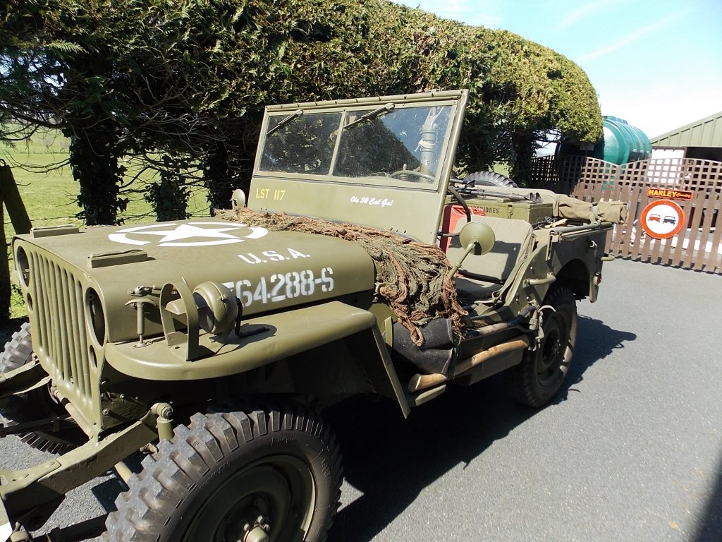 1945 Ford GPW Jeep side view, The Abingdon Collection 2017