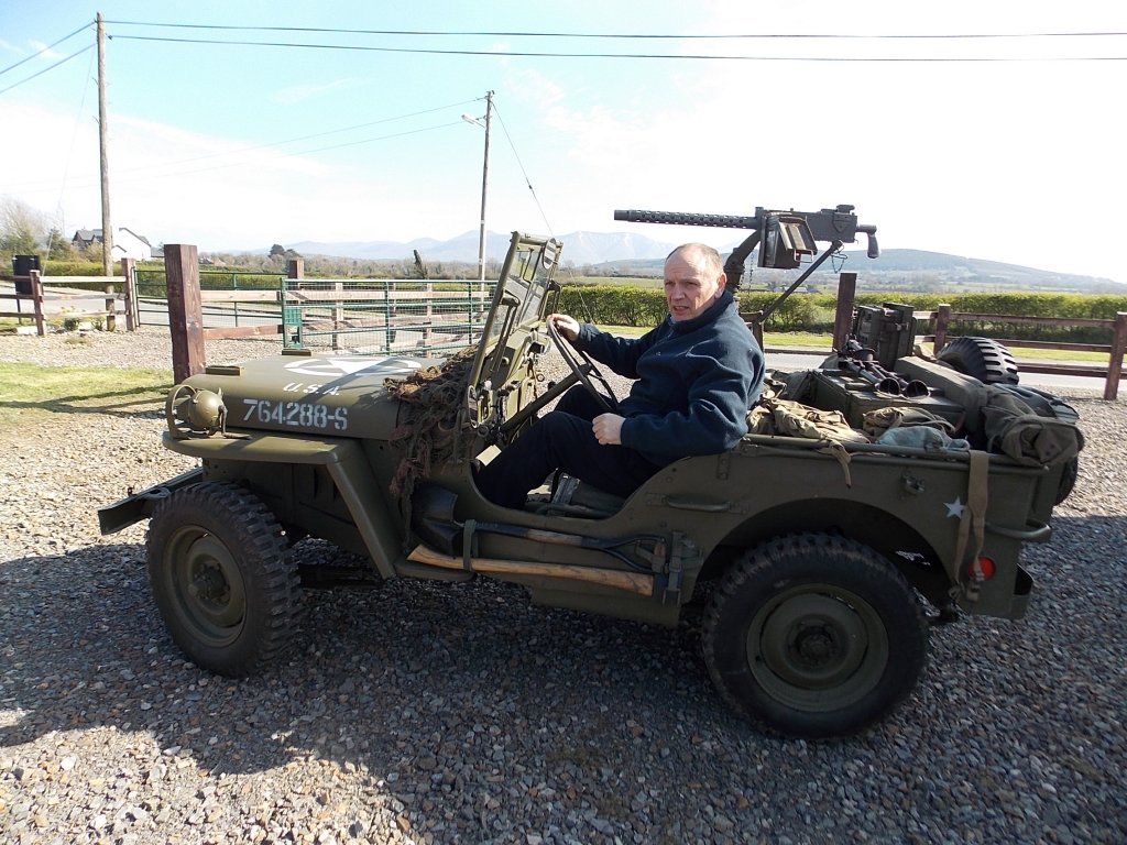 1945 Ford GPW Jeep with machine gun, The Abingdon Collection 2017